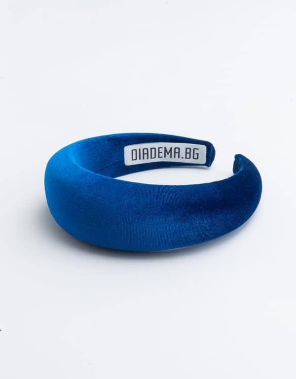 Royal blue velvet handmade headband
