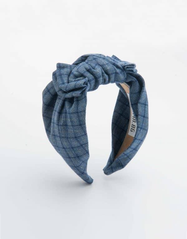 Blue Checks Bow Tie