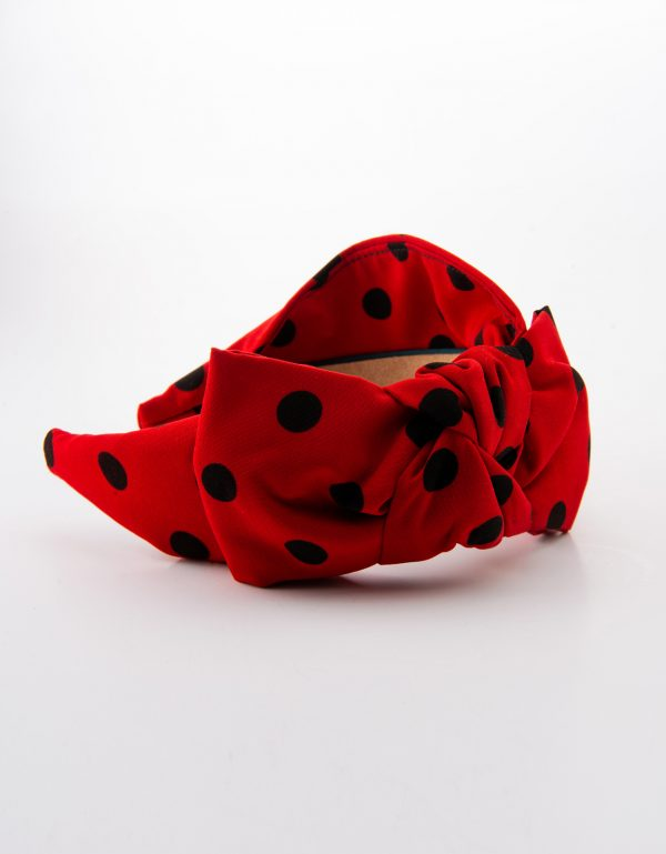 Ladybug Side Bow Tie
