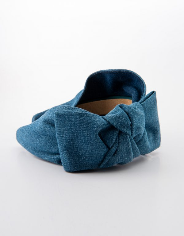 Denim Side Bow Tie