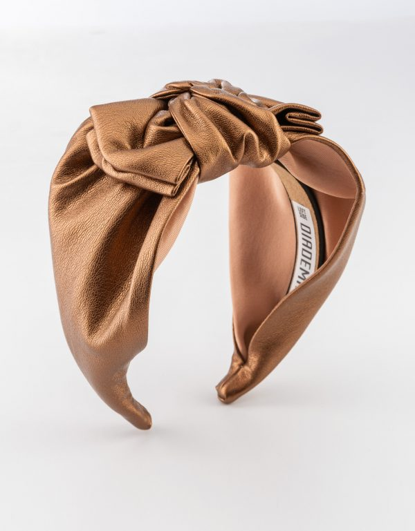 Brown Leather Bow Tie