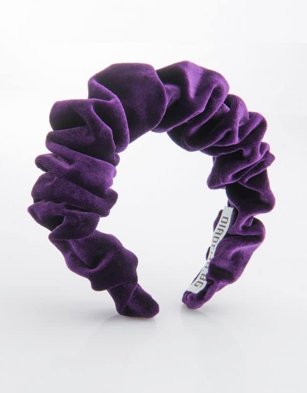 Purple Velvet Scrunchy