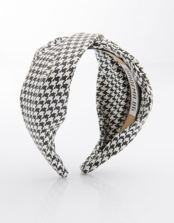 Houndstooth Leather Twist
