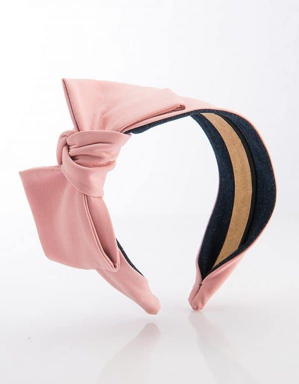 Dusty Rose Side Bow Tie Mini