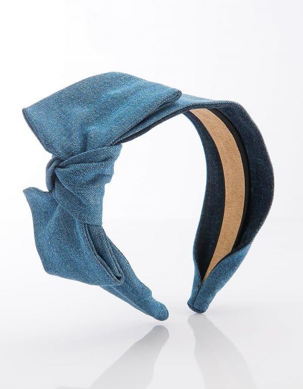 Denim Side Bow Tie Mini