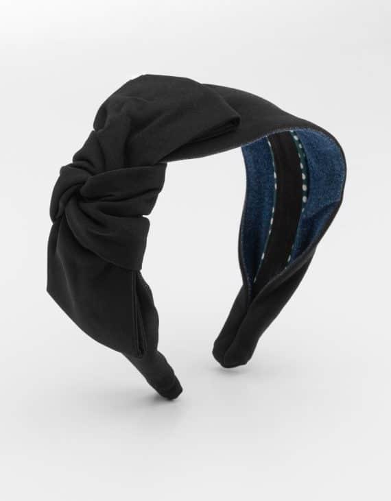 Black Side Bow Tie