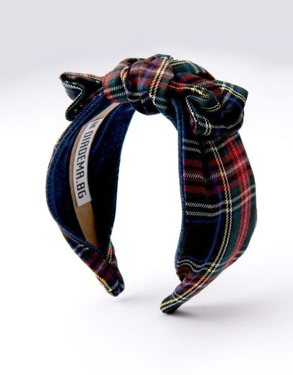 Black Stewart Tartan Bow Tie