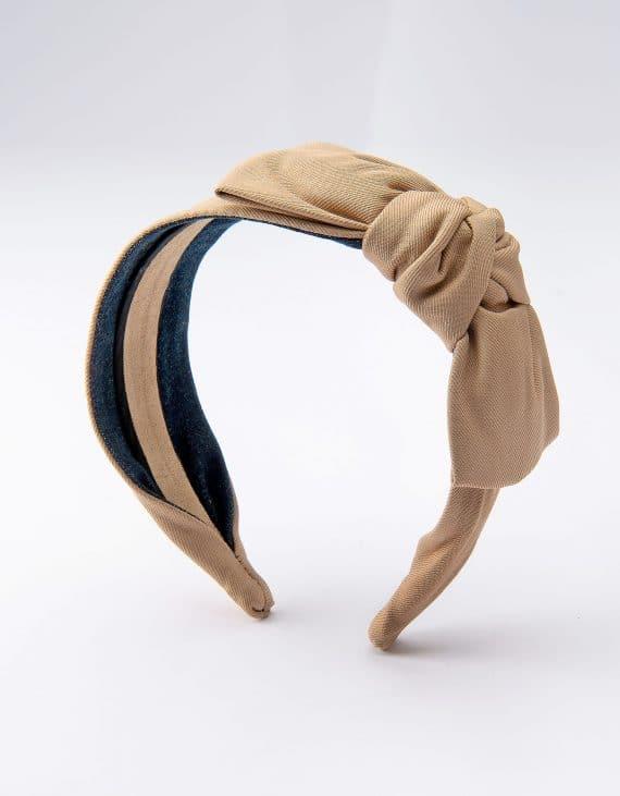 Light Camel Side Bow Tie